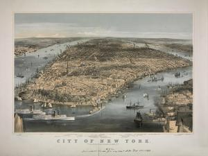 1856 NYC Map by N. Harbick