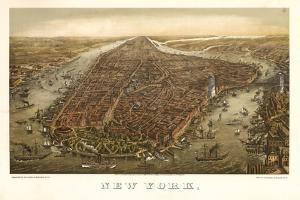 1874 NYC Map by N. Harbick
