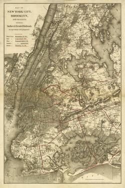 1885 NYC Map by N. Harbick