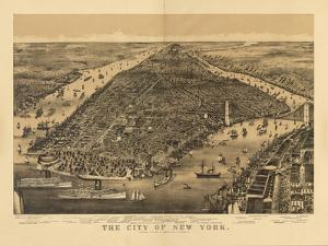1889 NYC Map by N. Harbick