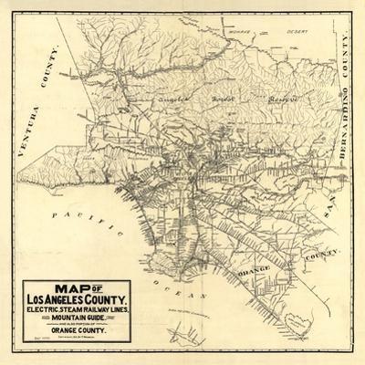 1912 LA Railway Map by N. Harbick