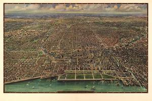 1916 Chicago Map by N. Harbick