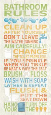 Bathroom Rules II by N. Harbick