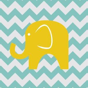 Chevron Elephant by N. Harbick