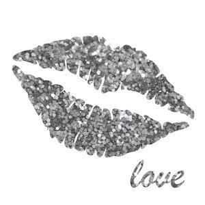 Glitter Lips Sq II by N. Harbick