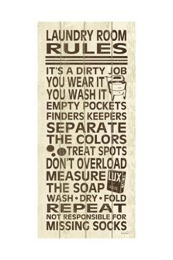 Laundry Room Rules III by N Harbick