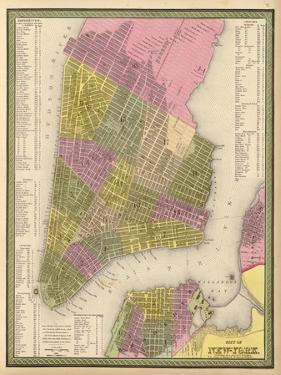 Vintage NYC Map by N. Harbick