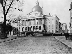 Massachusetts State House by N.L. Stebbins