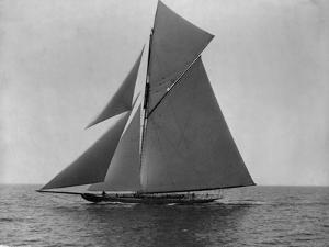 Racing Sloop in Full Sail by N.L. Stebbins