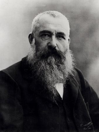 Portrait of Claude Monet (1841-1926) 1901 (B/W Photo) by Nadar