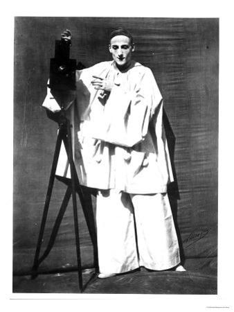 Portrait of Jean Charles Deburau as Pierrot, circa 1850-60 by Nadar