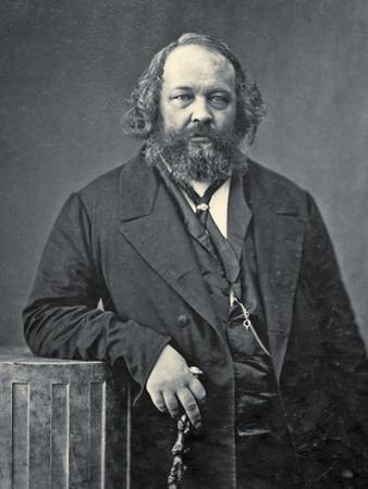 Portrait of Mikhail Aleksandrovich Bakunin, C.1860 by Nadar