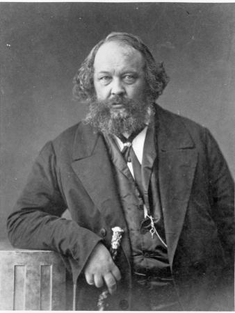 Portrait of Mikhail Aleksandrovich Bakunin circa 1860 by Nadar