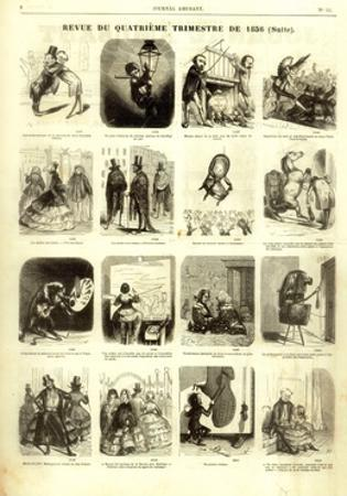 Review of the Fourth Quarter of 1856, from the 'Journal Amusant', 17 January 1857 by Nadar