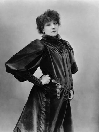 Sarah Bernhardt Standing with Hand on Hip by Nadar