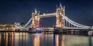Night at The Tower Bridge by Nader El Assy