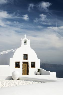 A Church in Oia, Santorini (Thira), Greece by Nadia Isakova