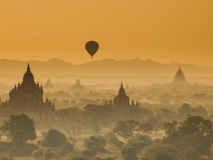 Bagan at Sunset, Mandalay, Burma (Myanmar) by Nadia Isakova
