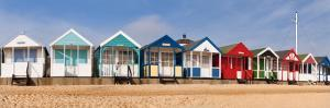 Beach Huts in Southwold, Suffolk, UK by Nadia Isakova