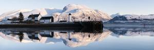 Corpach Lighthouse on Loch Eil with Ben Nevis and Fort William in the Background, Highland Region, by Nadia Isakova