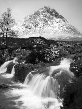 Coupall Falls and Buachaille Etive Mor in Winter, Glencoe, Scotland, UK by Nadia Isakova