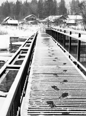 Footprints on the Bridge, Somino Village, Leningrad Region, Russia by Nadia Isakova