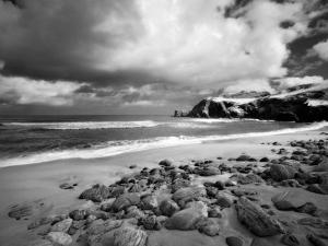 Infrared Image of Dalmore Beach, Isle of Lewis, Hebrides, Scotland, UK by Nadia Isakova