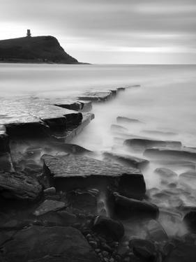 Rocks in Kimmeridge Bay with Clavell Tower in the Background, Dorset, UK by Nadia Isakova
