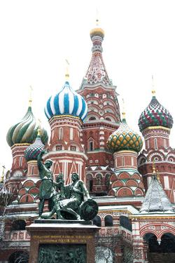 Saint Basil'S Cathedral on the Red Square, Moscow, Russia by Nadia Isakova