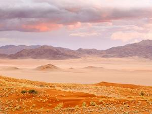 Sunset in the Namibrand Nature Reserve Located South of Sossusvlei, Namibia, Africa by Nadia Isakova