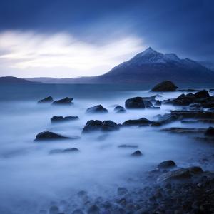 View from Elgol Beach to the Cuillin Hills, Isle of Skye, Scotland, UK by Nadia Isakova