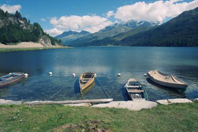 Beautiful Alpine Landscape (Valley of Engadin, Switzerland)
