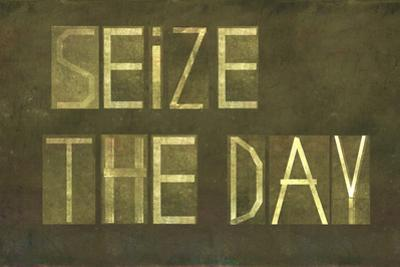 """Earthy Background And Design Element Depicting The Words """"Seize The Day"""""""