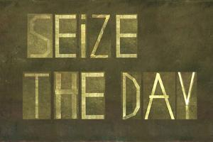 "Earthy Background And Design Element Depicting The Words ""Seize The Day"" by nagib"