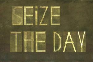 """Earthy Background And Design Element Depicting The Words """"Seize The Day"""" by nagib"""