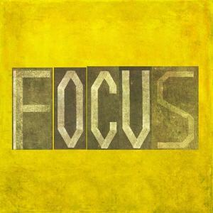 "Earthy Background Image And Design Element Depicting The Word ""Focus"" by nagib"