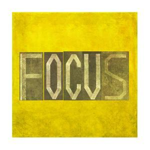"""Earthy Background Image And Design Element Depicting The Word """"Focus"""" by nagib"""