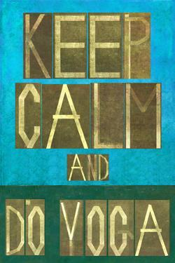Earthy Background Image and Design Element Depicting the Words Keep Calm and Do Yoga by nagib