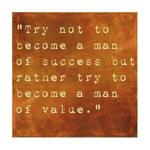Inspirational Quote By Albert Einstein On Earthy Brown Background by nagib