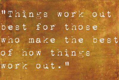Inspirational Quote By John Wooden On Earthy Brown Background by nagib