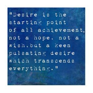 Inspirational Quote By Napoleon Hill On Earthy Blue Background by nagib