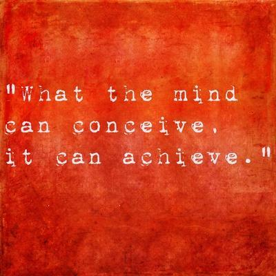 Inspirational Quote By Napoleon Hill On Earthy Red Background