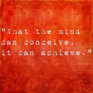 Inspirational Quote By Napoleon Hill On Earthy Red Background by nagib