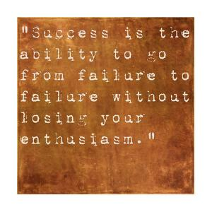 Inspirational Quote By Winston Churchill On Earthy Brown Background by nagib