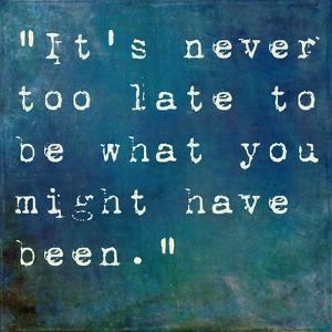 It's Never Too Late by nagib