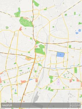 Nagpur, India Map