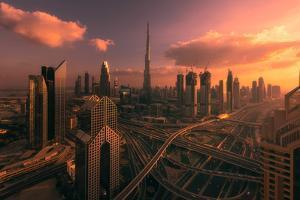 Dubai Sunset by Naiju Varghese