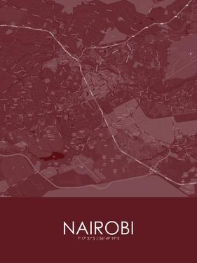 Nairobi, Kenya Red Map