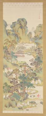 Poetry Gathering at the Orchid Pavilion (Ink, Colour and Gofun on Silk) by Nakabayashi Chikkei