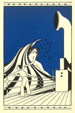 Naked Woman on Wave, Ocean Liner